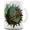 The Crocodile Wrestler Ceramic Mug