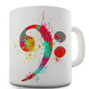 Bass Clef Paint Splats Novelty Mug
