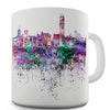 Hong Kong Skyline Ink Splats Funny Mug