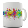 Los Angeles Skyline Ink Splats Novelty Mug