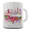 Dubai Skyline Ink Splats Ceramic Mug