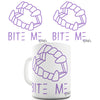 Bite Me Purple Funny Mug