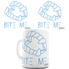 Bite Me Vampire Dentures Novelty Mug