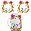 Watercolour Bird Flowers Ceramic Mug