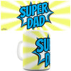 Comic Book Super Dad Novelty Mug