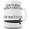 Jon Snow Knows Nothing Personalised Name Does Novelty Mug