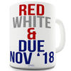 Red, White & Due Personalised Ceramic Tea Mug