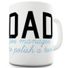 Polished Turd Dad Funny Mugs For Coworkers