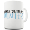 Waiting For Winter Funny Mugs For Coworkers