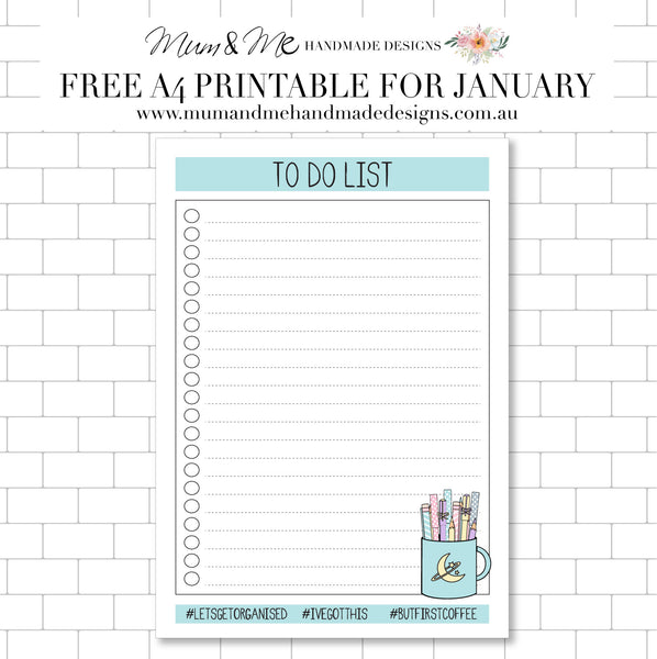 Free Printable To Do List by Mum and Me Handmade Designs