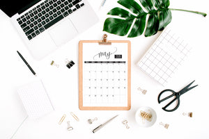 PDF Printable - Monthly Calendar for 2018