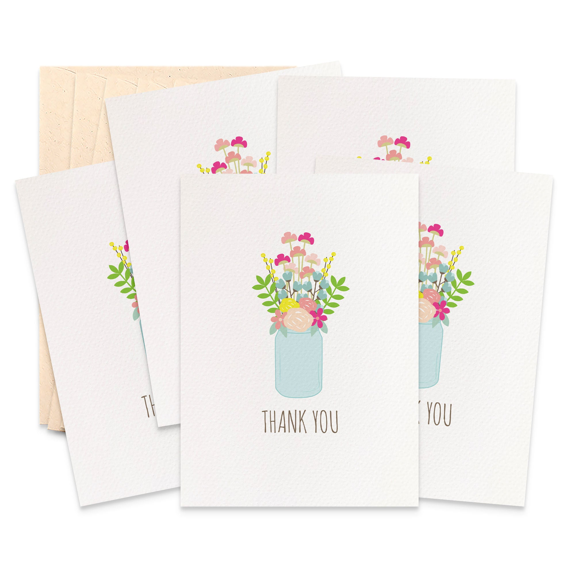 Set of 5 - Mason Jar Greeting Cards by mumandmehandmadedesigns- An Australian Online Stationery and Card Shop