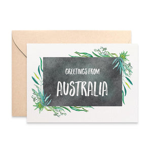 Eucalyptus Frame Greeting Card by mumandmehandmadedesigns- An Australian Online Stationery and Card Shop