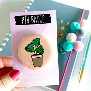 Badge - Monstera Plant Badge by mumandmehandmadedesigns- An Australian Online Stationery and Card Shop