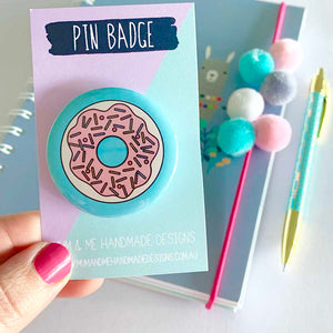 Badge - Donut Badge by mumandmehandmadedesigns- An Australian Online Stationery and Card Shop