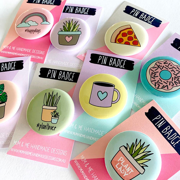 Assorted Badges Badge by mumandmehandmadedesigns- An Australian Online Stationery and Card Shop