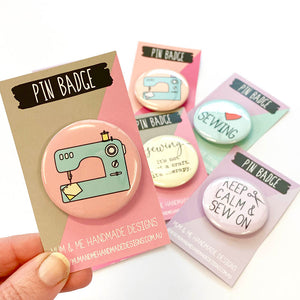 Sewing Badges Badge by mumandmehandmadedesigns- An Australian Online Stationery and Card Shop