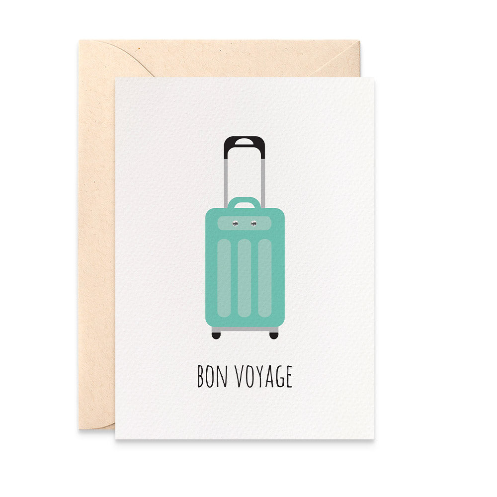 Suitcase Greeting Card by mumandmehandmadedesigns- An Australian Online Stationery and Card Shop