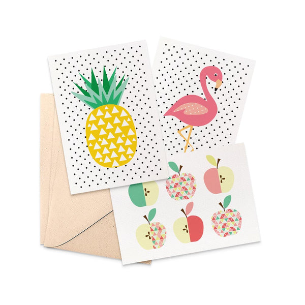 Set of 3 - Blank Greeting Cards by mumandmehandmadedesigns- An Australian Online Stationery and Card Shop