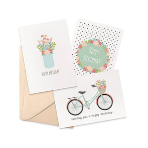 Set of 3 - Female Greeting Cards by mumandmehandmadedesigns- An Australian Online Stationery and Card Shop