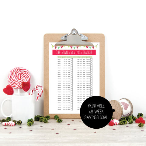Xmas Budget Planner - US Letter Size Printable by mumandmehandmadedesigns- An Australian Online Stationery and Card Shop