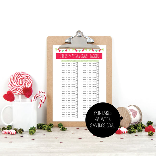 Xmas Budget Planner - A4 Size Printable by mumandmehandmadedesigns- An Australian Online Stationery and Card Shop