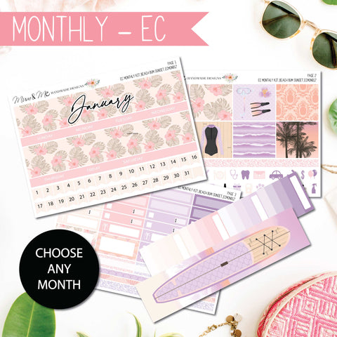 Monthly Kit EC: Beach Bum Sunset