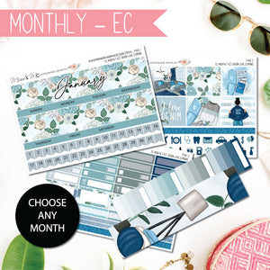 Monthly Kit EC: Denim Love-Planner Stickers by Mum and Me Handmade Designs - An Australian Online Stationery, Planner Stickers and Card Shop