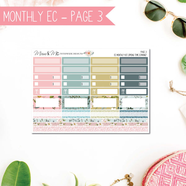 Monthly Kit EC: Spring Time-Planner Stickers by Mum and Me Handmade Designs - An Australian Online Stationery, Planner Stickers and Card Shop