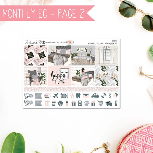 Monthly Kit EC: Happy at Home-Planner Stickers by Mum and Me Handmade Designs - An Australian Online Stationery, Planner Stickers and Card Shop