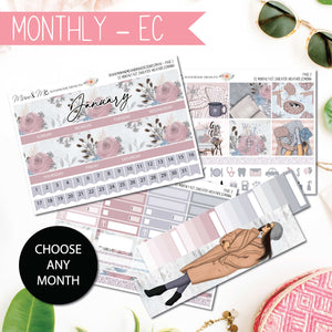 Monthly Kit EC: Sweater Weather-Planner Stickers by Mum and Me Handmade Designs - An Australian Online Stationery, Planner Stickers and Card Shop