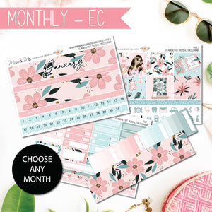 Monthly Kit EC: Tropical Times-Planner Stickers by Mum and Me Handmade Designs - An Australian Online Stationery, Planner Stickers and Card Shop