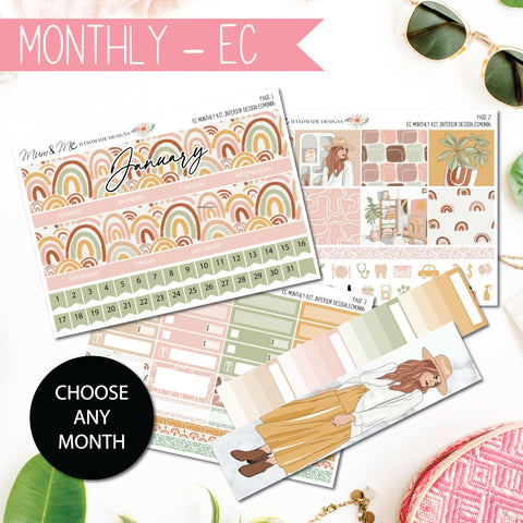 Monthly Kit EC: Interior Design-Planner Stickers by Mum and Me Handmade Designs - An Australian Online Stationery, Planner Stickers and Card Shop