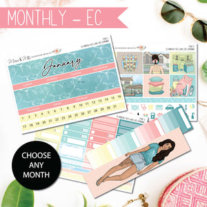 Monthly Kit EC: Lake Life-Planner Stickers by Mum and Me Handmade Designs - An Australian Online Stationery, Planner Stickers and Card Shop