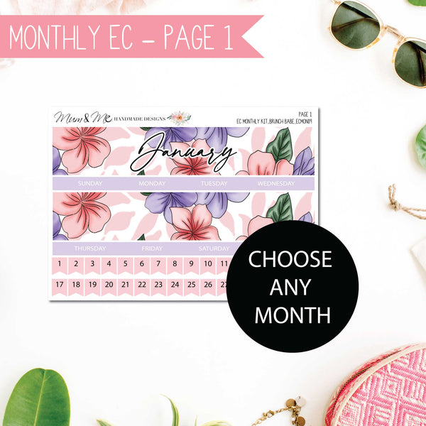 Monthly Kit EC: Brunch Babe-Planner Stickers by Mum and Me Handmade Designs - An Australian Online Stationery, Planner Stickers and Card Shop