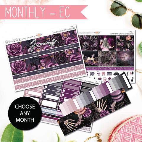 Monthly Kit EC: Haunted Halloween-Planner Stickers by Mum and Me Handmade Designs - An Australian Online Stationery, Planner Stickers and Card Shop