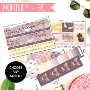 Monthly Kit EC: Moonchild-Planner Stickers by Mum and Me Handmade Designs - An Australian Online Stationery, Planner Stickers and Card Shop