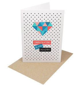 Geometric Diamond Greeting Card by mumandmehandmadedesigns- An Australian Online Stationery and Card Shop