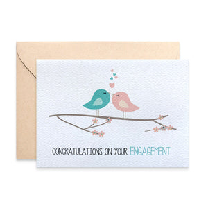 Love Birds on Branch Greeting Card by mumandmehandmadedesigns- An Australian Online Stationery and Card Shop