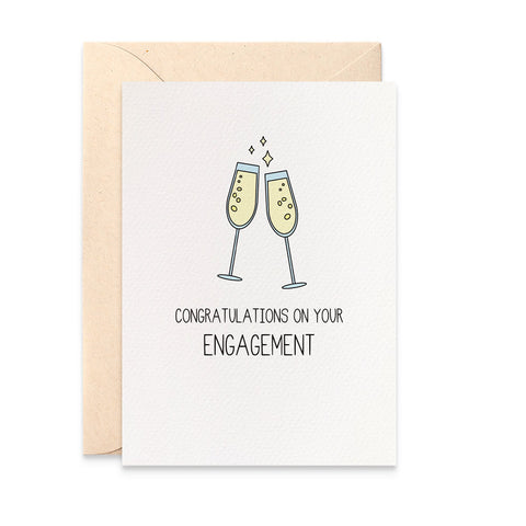 Glasses of Champagne Greeting Card by mumandmehandmadedesigns- An Australian Online Stationery and Card Shop