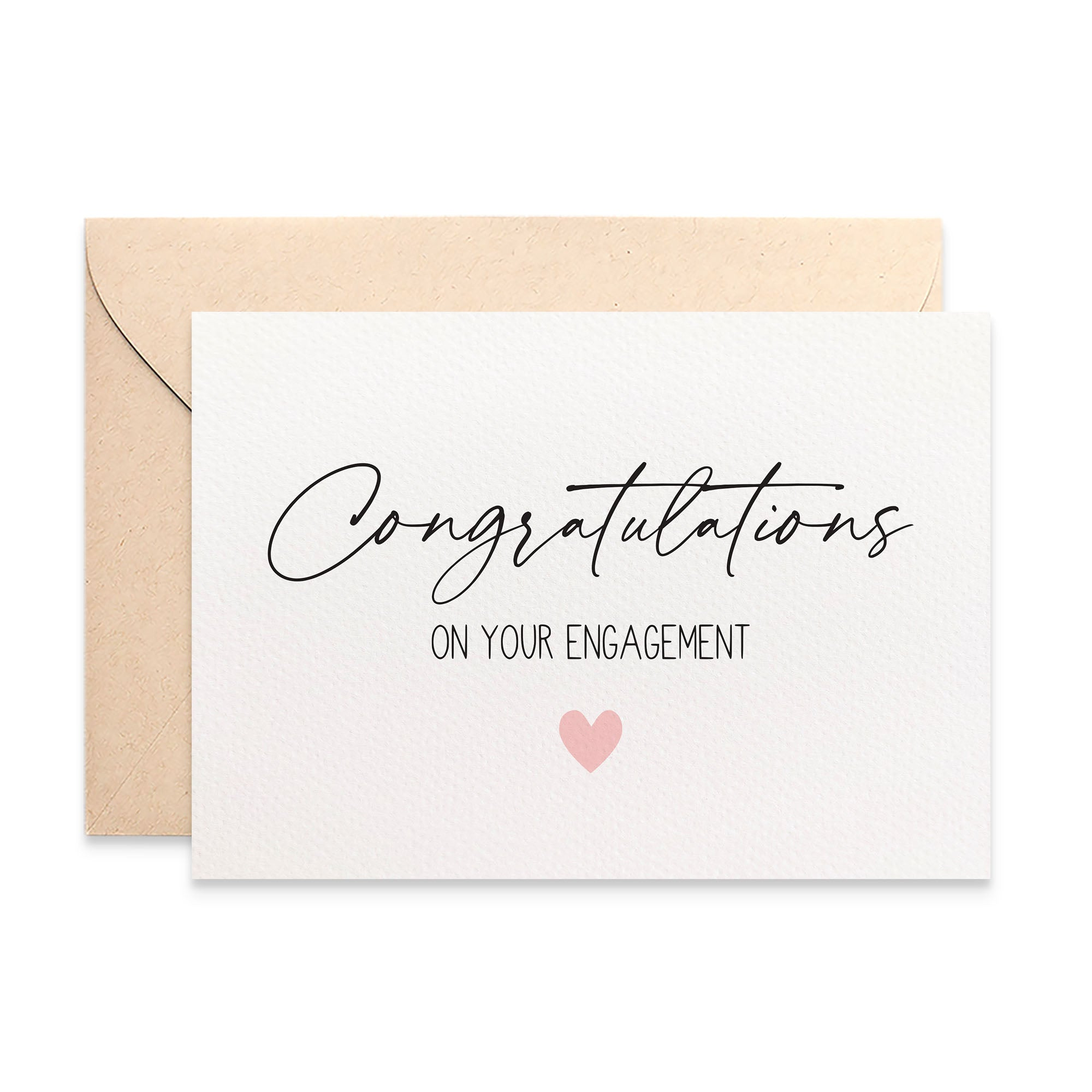 Congratulations Engagement Greeting Card by mumandmehandmadedesigns- An Australian Online Stationery and Card Shop