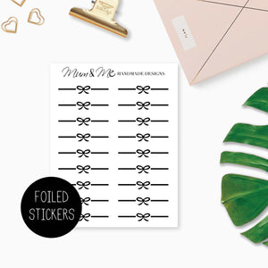 Foiled: Bow Dividers