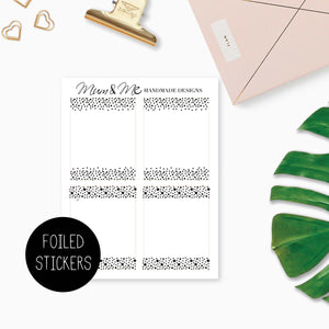 Foiled Overlay: Full Boxes Confetti