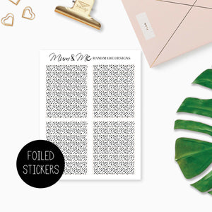 Foiled Overlay: Confetti Headers