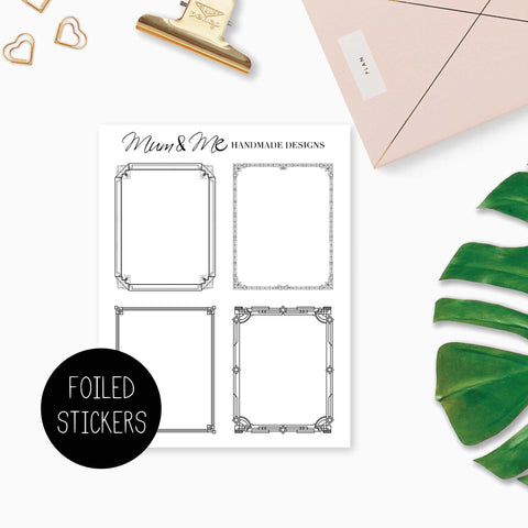 Foiled Overlay: Art Deco Frames