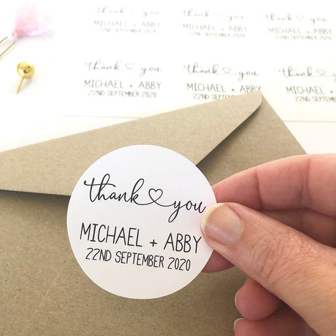 Stickers - Personalised Wedding Thank You Planner Stickers by mumandmehandmadedesigns- An Australian Online Stationery and Card Shop