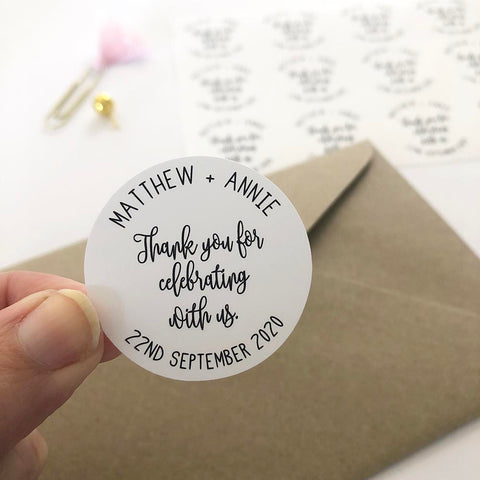Stickers - Personalised Bride and Groom Thank You Planner Stickers by mumandmehandmadedesigns- An Australian Online Stationery and Card Shop
