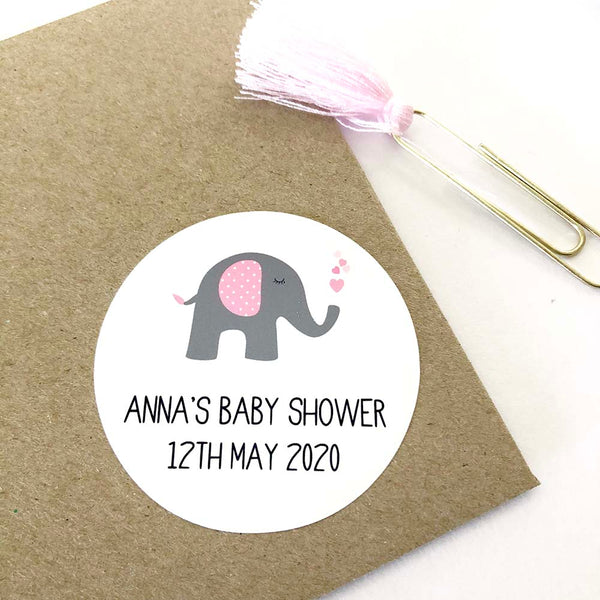 Stickers - Personalised Pink Baby Shower Planner Stickers by mumandmehandmadedesigns- An Australian Online Stationery and Card Shop