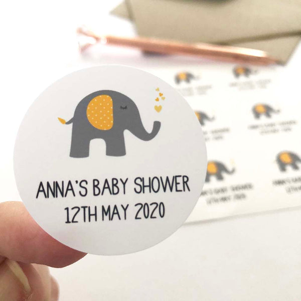 Stickers - Personalised Neutral Baby Shower Planner Stickers by mumandmehandmadedesigns- An Australian Online Stationery and Card Shop