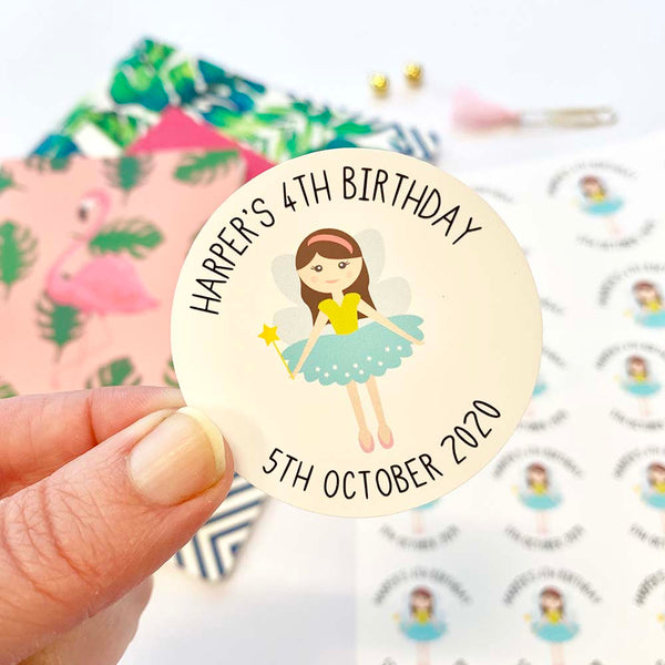 Stickers - Personalised Children's Birthday Planner Stickers by mumandmehandmadedesigns- An Australian Online Stationery and Card Shop